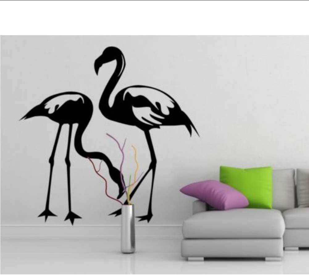 Vinyl Wall Decal Flamingo Couple Birds, Romantic Love Art Decor Home Sticker 50 50Cm