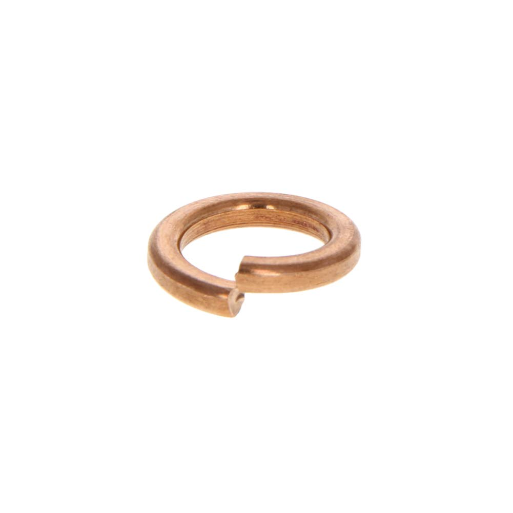 MroMax 1PCS Copper Flat M12 Round Ring 12mm ID Washer Oil Brake Line Seal for Instruments Pumps Bronze Tone
