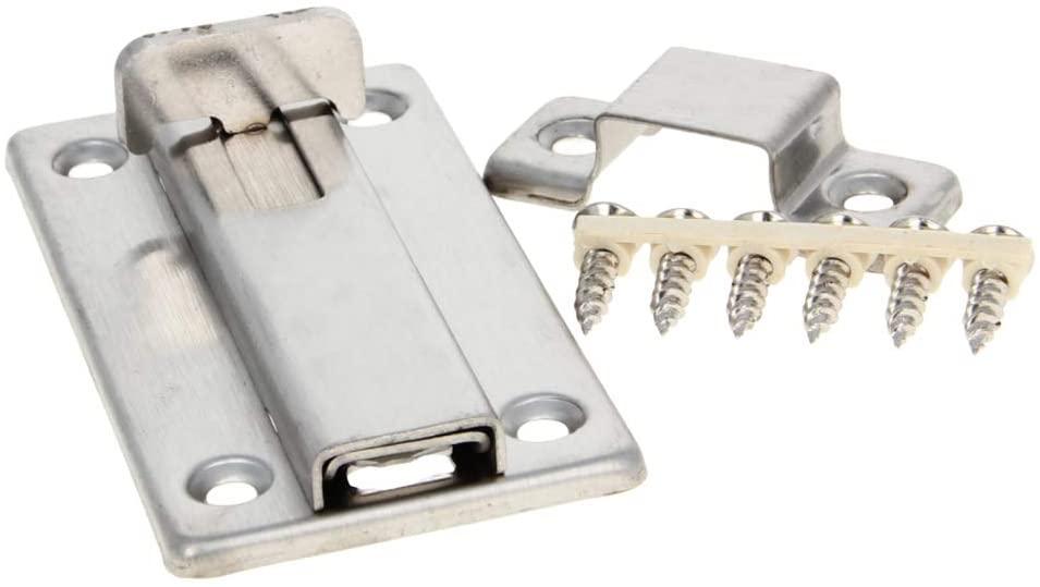 MroMax Sliding Lock Barrel Bolt, 4-inch Stainless Steel Door Latch With Screws Silver 1Pcs
