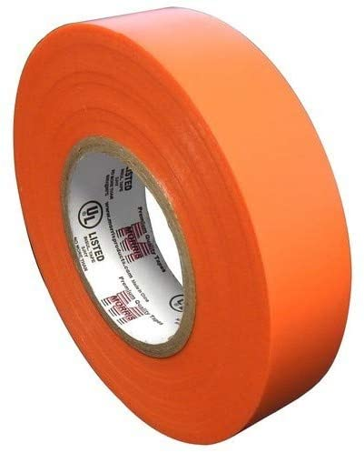 OhLectric Professional Grade Vinyl Electrical Tape - 7 Mil Thick, Heavy Duty, Flame Retardant, Heat & Weather Resistant - 3/4 Inch x 60 Feet - Rated up to 600 Volts - UL, CSA Listed (Orange)