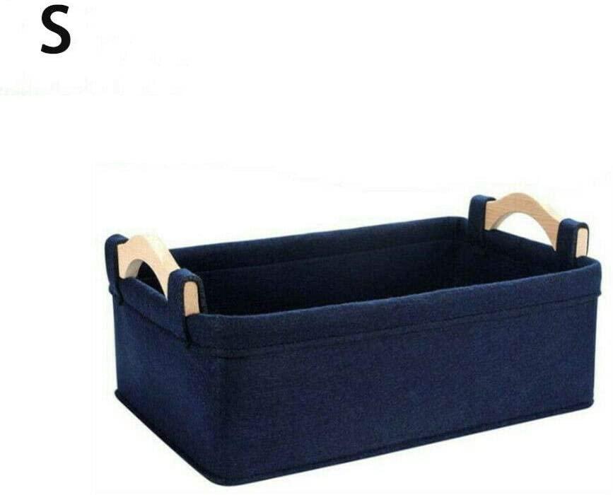 Fabric Storage Cubes, Portable Storage Basket Rectangular Fabric Transport Organizer Bin Box 1 Pack,Navy Blue,M