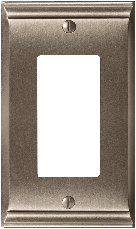 Amerock BP36504G10 Candler 1 Rocker Wall Plate - Satin Nickel