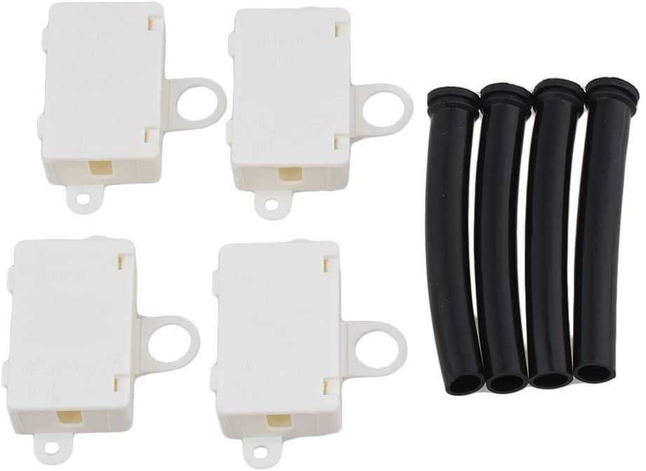 Ewead, Beige Mini Cable Wire Junction Box with T06-MM3S Terminals with Black Wire Sleeves Pack of 4
