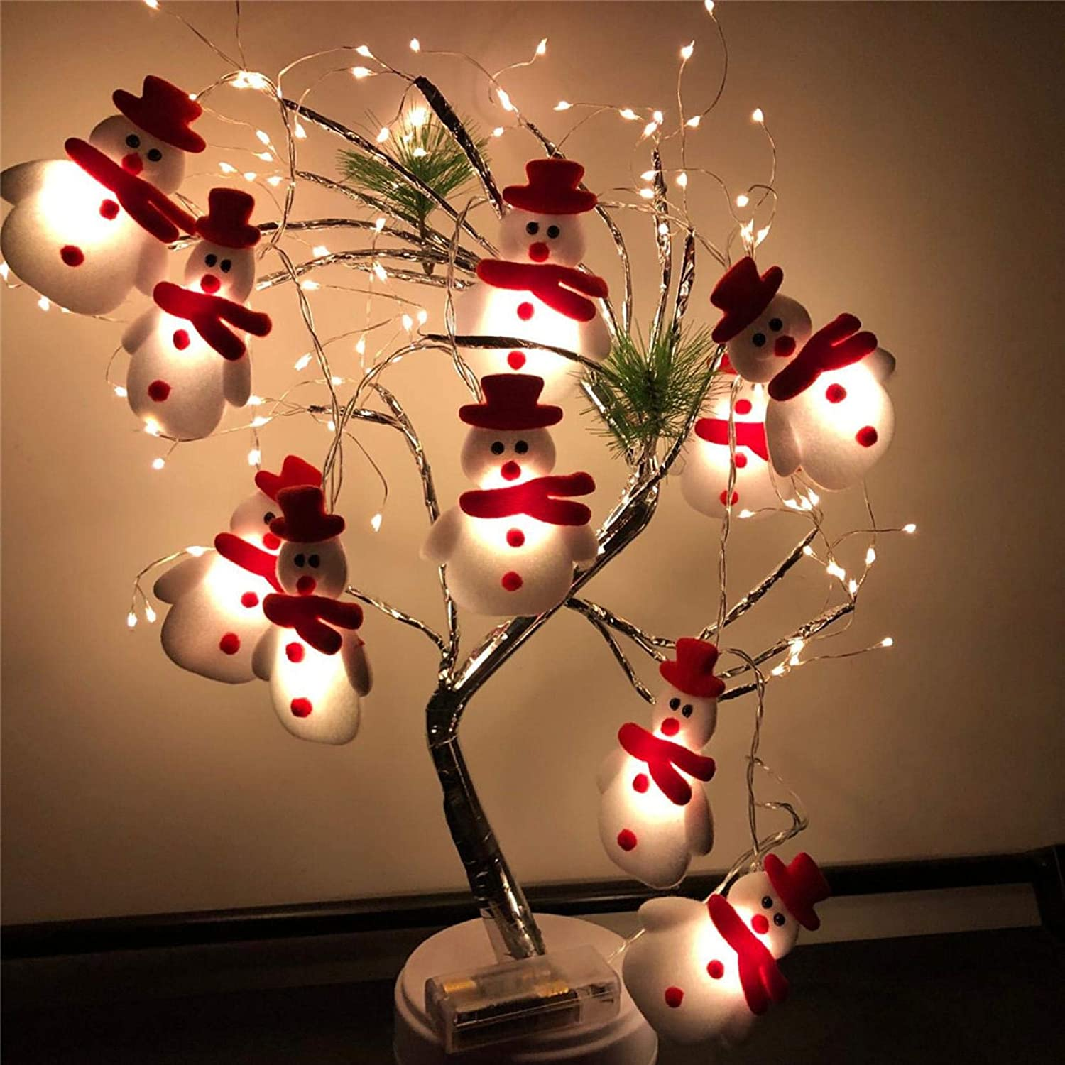 Gottifusion LED Christmas Snowman Strings Christmas Tree Holiday Party Decoration Lantern for Party Indoor Outdoor Lights Decor.Santa Claus String Lights,Colorful Cute String Lights for Christmas