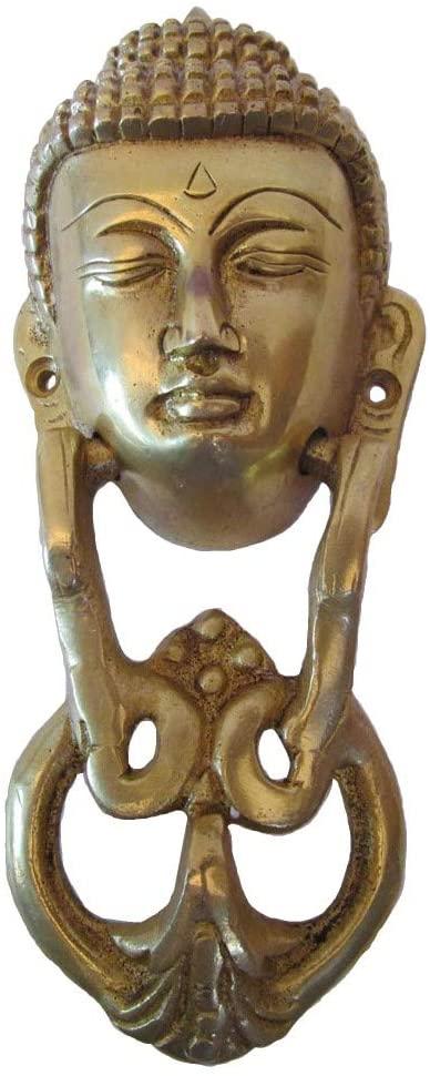Door Knocker - Fully Brass Made -Traditional Hardware : (Buddha Type - Brass Finish)
