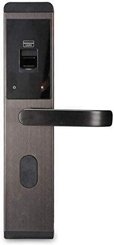 4-Way Electronic Smart Door Lock Biometric Keyless Lock Fingerprint Anti-theft Touch Screen Password IC Cards and Keys Unlocking for Home Office Entry Door Security Reversible Handle