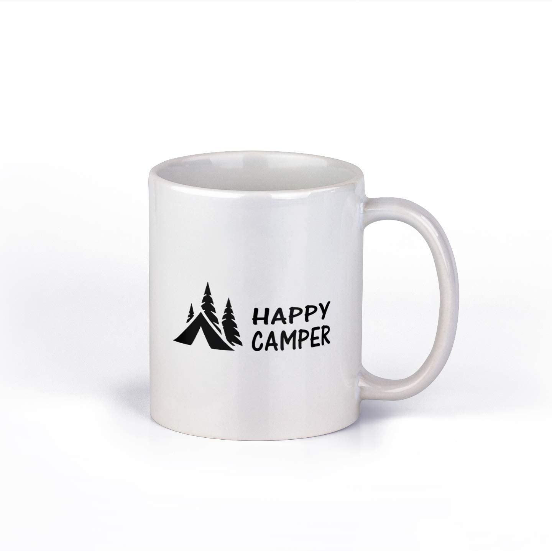Happy Camper Coffee Mug | Fun Camping Coffee Cup | 11-Ounce Coffee Mug | M168