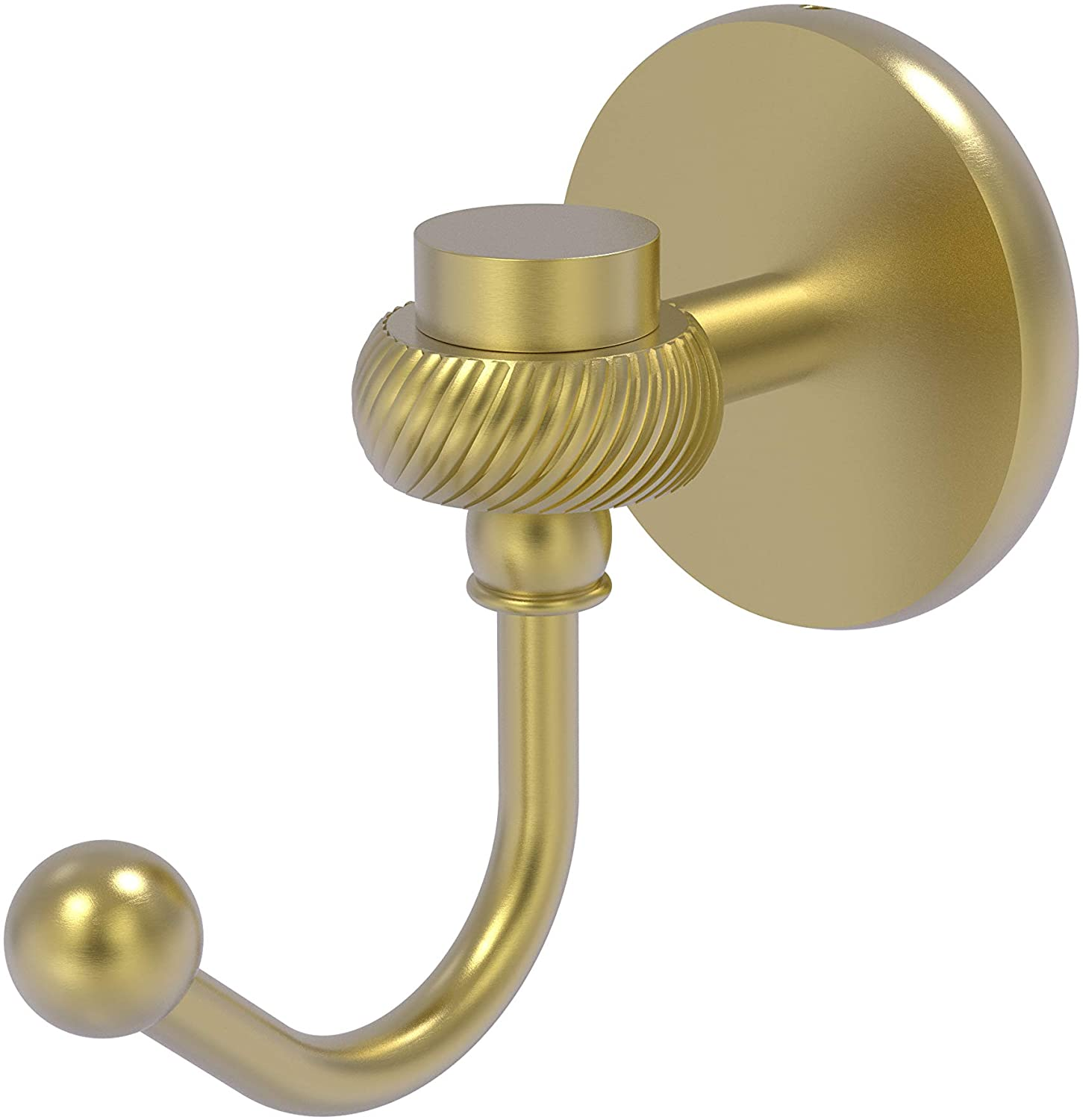 Allied Brass Satellite Orbit One Twisted Accents Robe Hook, Satin Brass