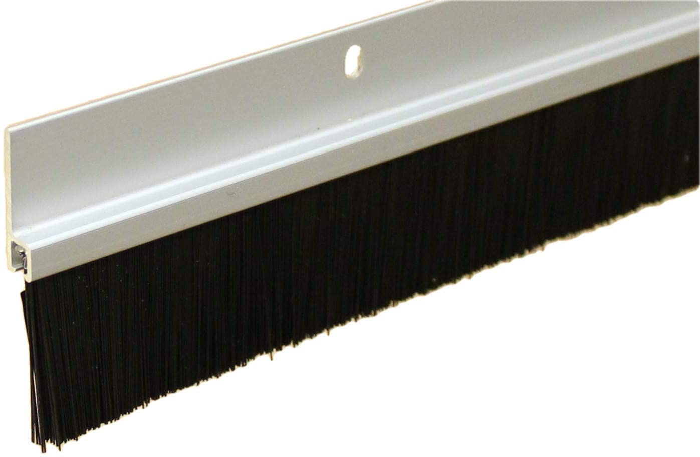 Heavy Duty Clear Anodized Brush Sweep Door Sweep for Gaps Up to 2
