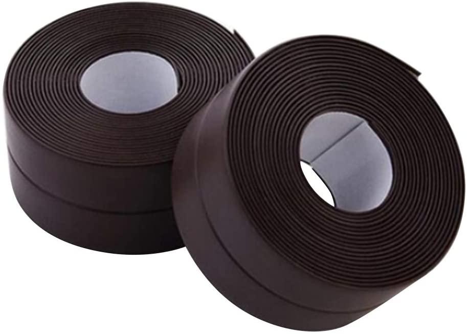 YINUODAY 2Pcs Caulk Strip Self-Adhesive Repair Flex Seal Tape Waterproof Silicone Strip for Bathtub Kitchen Sink Basin Edge Wall Shower Toilet PVC Sealing