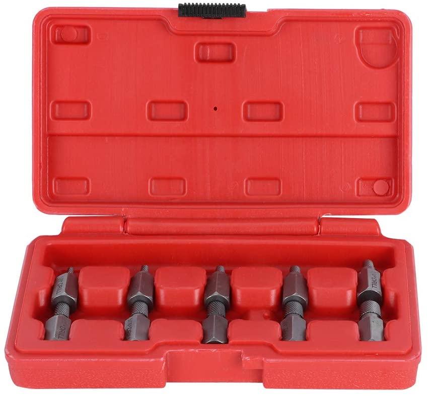 Damaged Screw Extractor 10Pcs Screw Extractor Kit Multi Spline Broken Studs Pipes Fittings Hand Tool