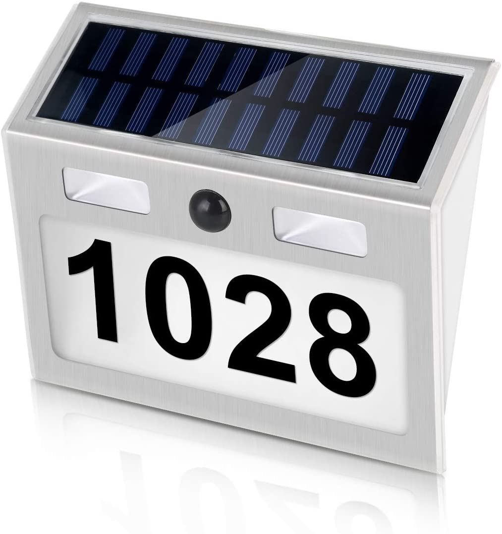 Mintata Human Induction Door Number Solar Light House Apartment Number Wall Light Wireless Door Plate Lamp