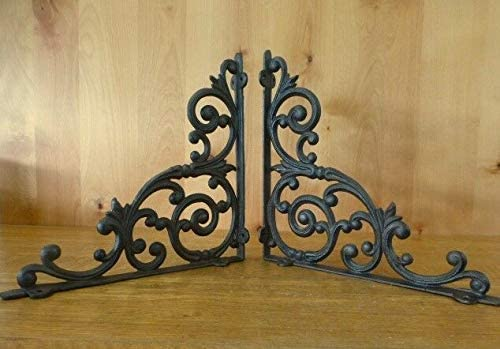 Brackets for Shelves Antique Style 2 XL Big Brown Heavy Duty 13