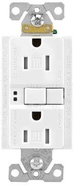 EATON TRSGF15W Arrow Hart Tamper Resistant Duplex Gfci Receptacle, 125 Vac, 15 A, 2 Pole, 3 Wire, White