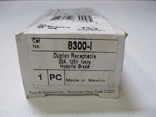 Pass & Seymour 8300I- Ivory Extra Heavy-Duty Hospital Grade Receptacle Duplex Outlet 20A 125V
