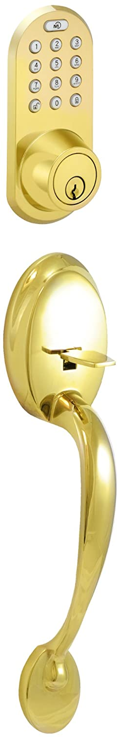 Morning Industry BQF-01P Handle Set Combo with Touchpad and Remote Control Deadbolt, Brass