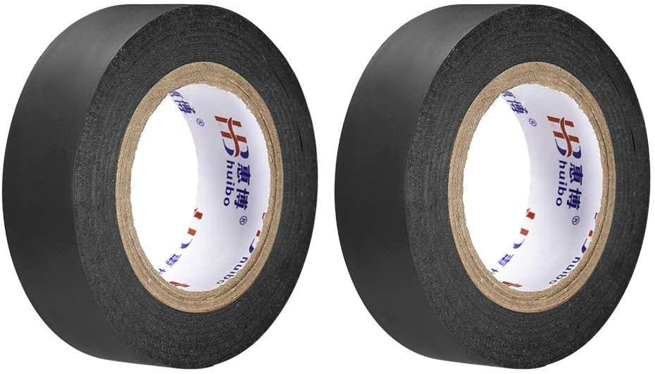 uxcell Insulating Tape 19mm/0.74inch Width 14.5M/47.5ft Long 0.15mm Thick PVC Electrical Tape Rated for Max. 400V 80C Use Black 2pcs
