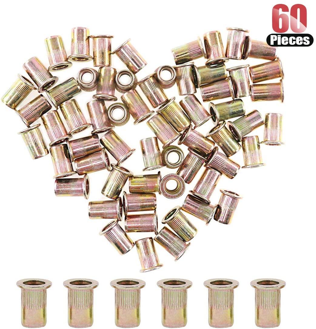 Hilitchi 60 Pcs 5/16-18 UNC Rivet Nuts Threaded Insert Nut (5/16-18 UNC Rivnut)