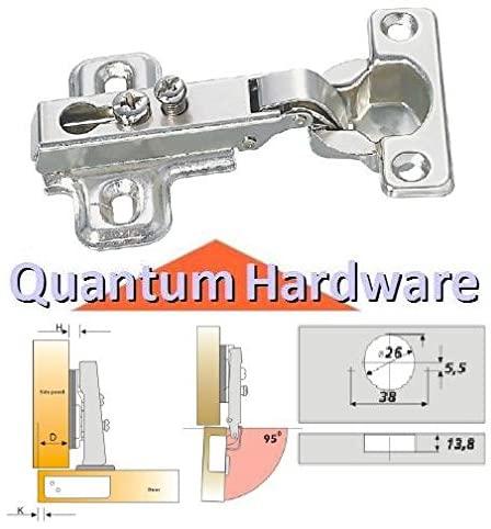 Cabinet Concealed Mini Euro Hinge 95 deg. 24 Pack (HG-2603B)