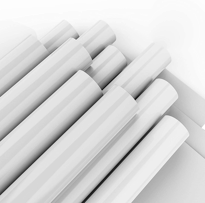 White Heat Transfer Vinyl for T- Shirts- 10 Sheets,10