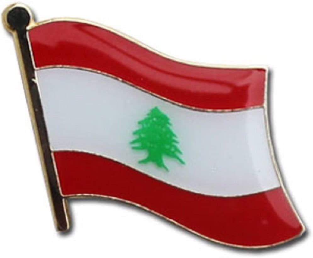 SUPERDAVES SUPERSTORE Lebanon Country Flag Small Metal Lapel Pin Badge 3/4 X 3/4 Inches New
