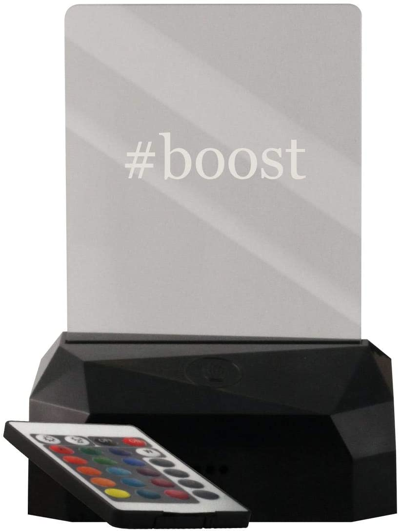 #Boost - LED USB Rechargeable Edge Lit Sign