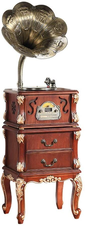 Vintage Bluetooth Speaker Retro Horn Turntable Bluetooth Vinyl Record Player Copper Stereo Music Center With His Master Horn Music Machine Record Machine Vintage Phonograph Record Player Bluetooth Old