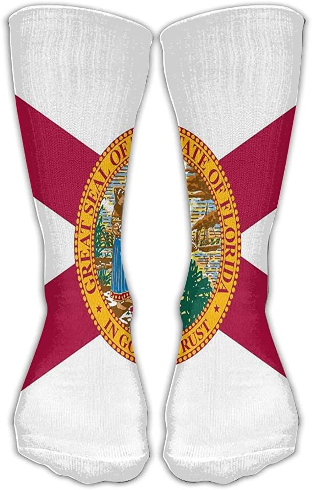 Florida Flag Unisex Soccer Socks Knee High Long Stockings Sports Outdoor For Men Women