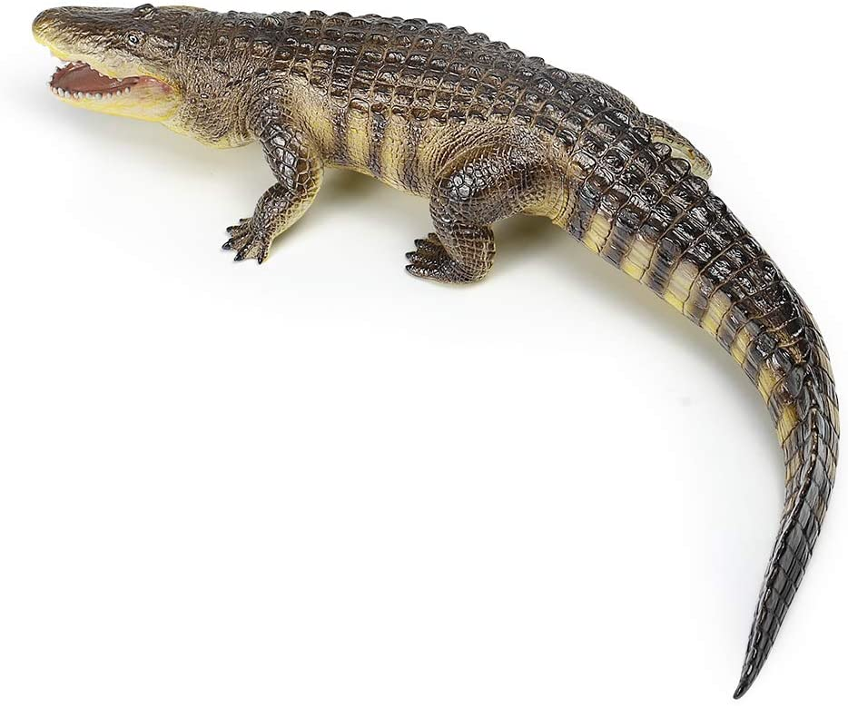 RECUR 22.8inch Super Big American Alligator Toy Large Crocodile Action Figures Plastic Model, Colossal Collectibles, Creative Gifts for Wildlife Animal Collectors & Boys Kids Toy & Office Model Kits