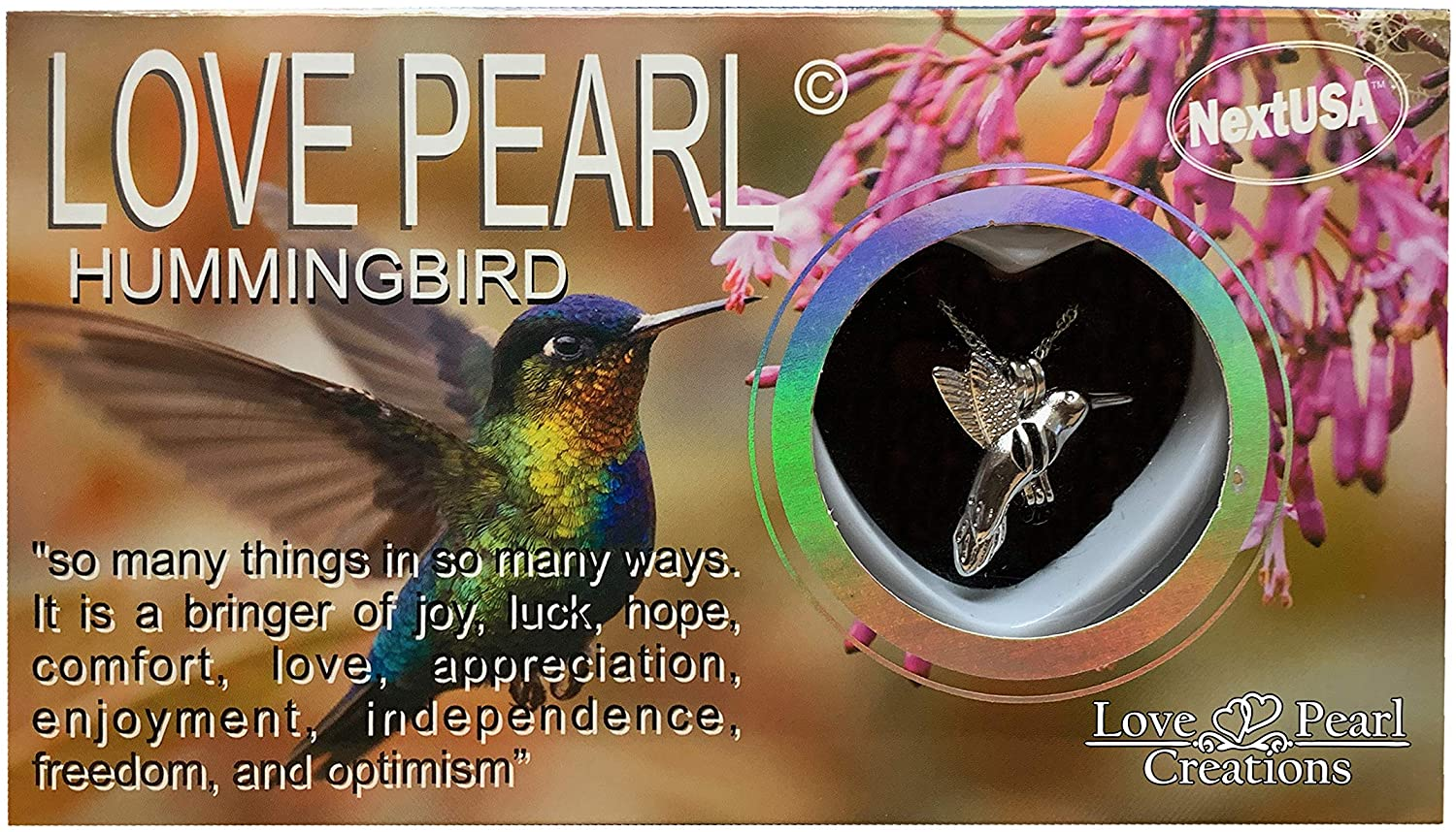 Love Pearl Creations Animals Wish Kit with Pendant Necklace (Humming Bird)
