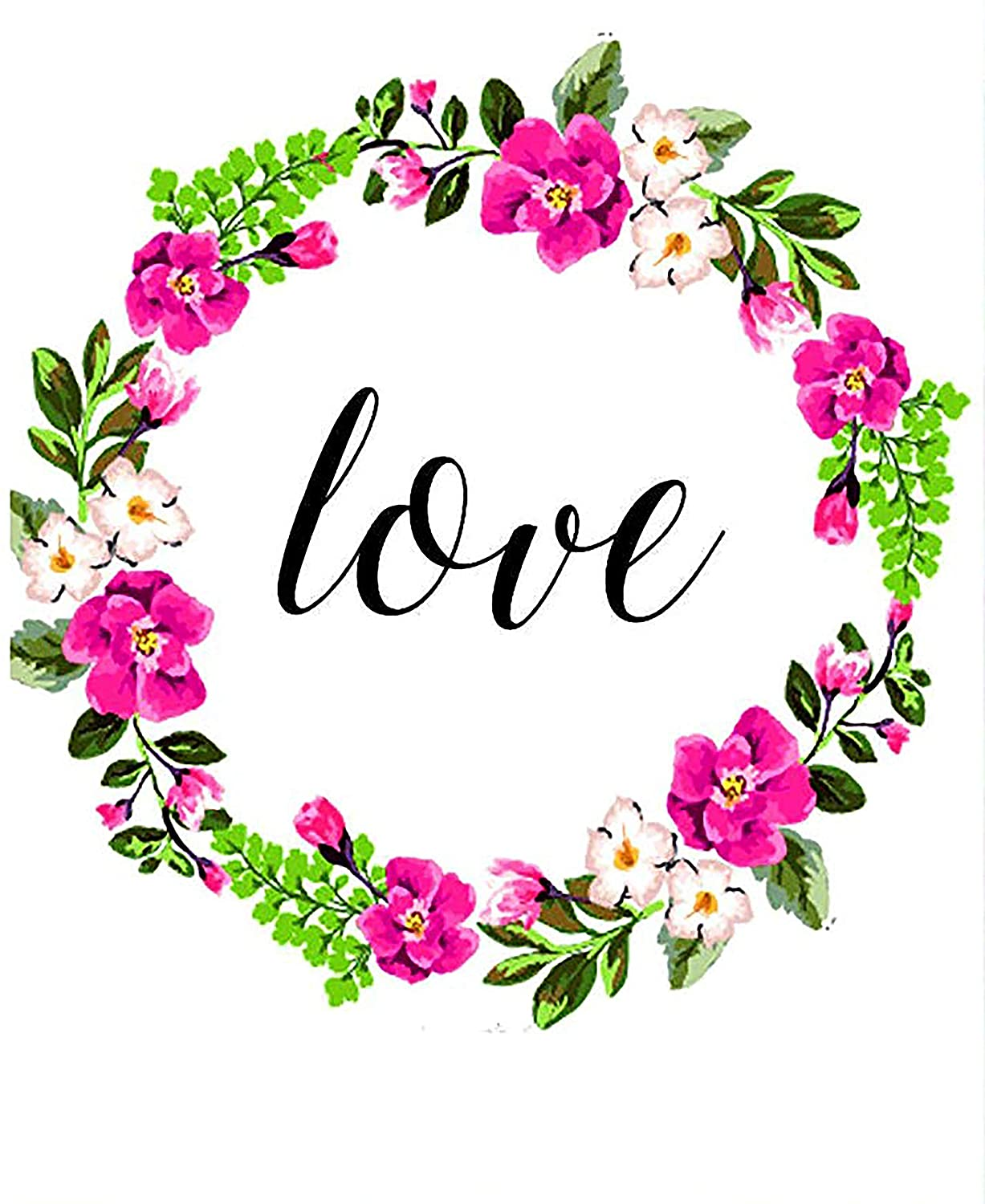 Love Prints-Happy lovely Quote- Love Wall Art- Love Decor-Floral Love Print- Love Wall Decor-Faith Hope-Love Art-Wall art decor with quote -LOVE-Home Decor- wall art Floral Print-#WP-06