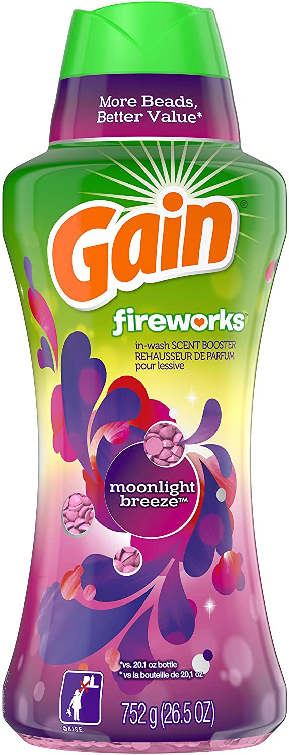 Gain Fireworks in-wash Scent Booster Beads, Moonlight Breeze, 26.5 Ounce
