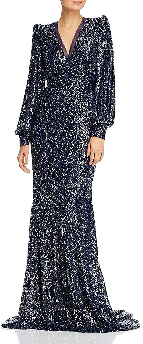 RACHEL ZOE Womens Mesh Lined Sequined Formal Dress