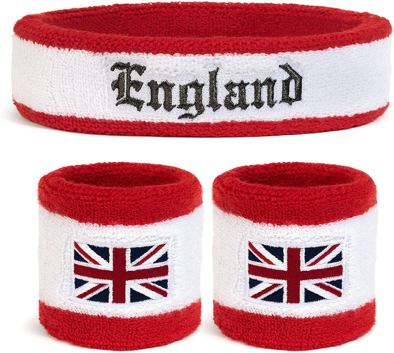 Suddora Country Headband & Wristbands Set (Includes 2 Wrist & 1 Head Sweatband)