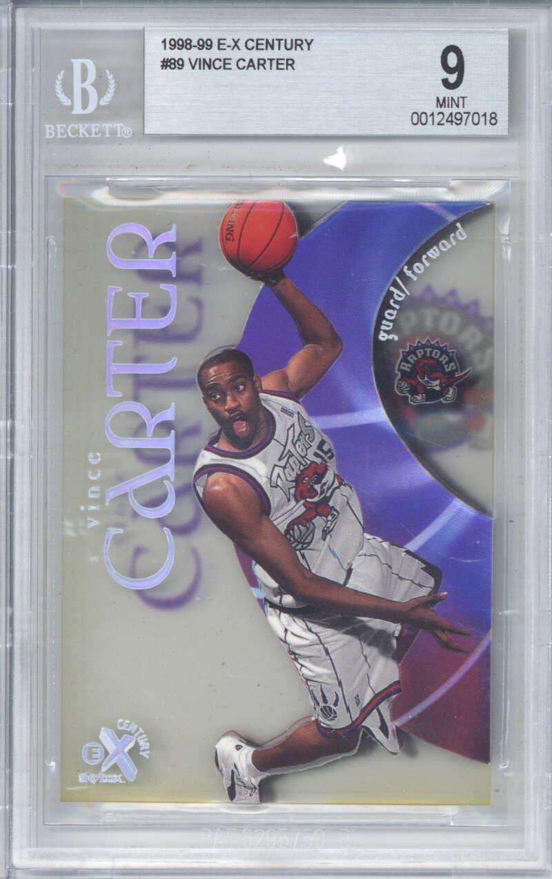 Vince Carter 1998-99 E-X Century Rookie #89 Beckett BGS 9