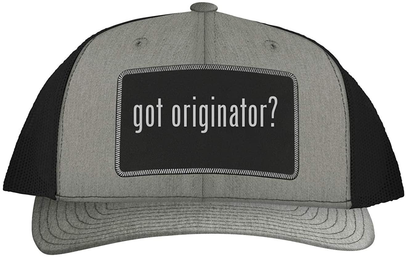 One Legging it Around got Originator? - Leather Black Patch Engraved Trucker Hat