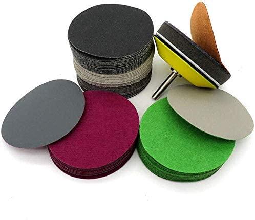 20Pcs 75mm Hook and Loop Sanding Disc Wet or Dry Sandpaper Pads 80 Grit