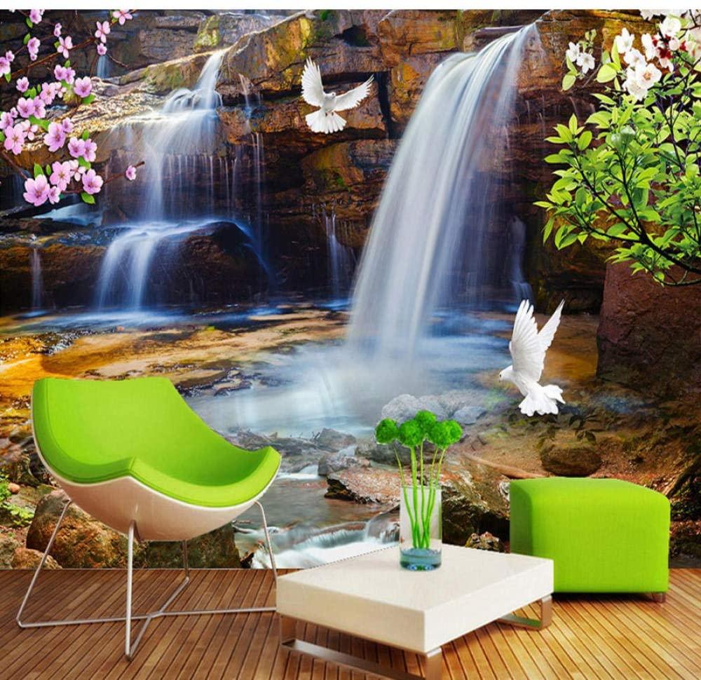 Custom 3D Wallpaper for Walls Roll Waterfall Water Natural Landscape Large Mural 3D Photo Wallpaper Livingroom Bedroom-150x130cm/59x51in