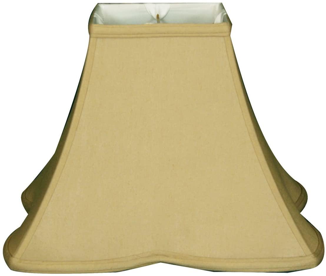 Royal Designs Sharp Corner Fancy Square Basic Lamp Shade, Antique Gold, 6.5 x 16x12