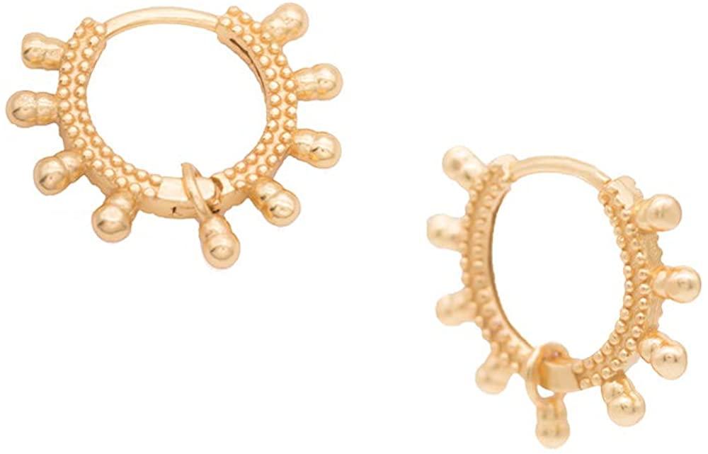18K Gold Plated Huggie Hoop Earrings 925 Sterling Silver Cuff Hoop Earrings for Women Dainty Minimalist Simple Boho Hypoallergenic Jewelry Gift for Girls Men