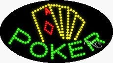 Poker LED Sign - 15 x 27 x 1 inches - Made in USA