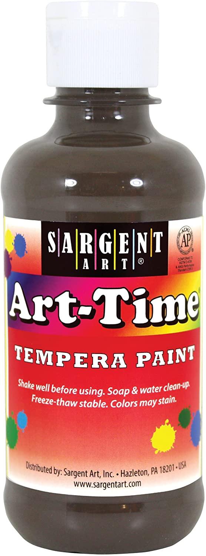 Sargent Art 17-6388 8 oz Brown Art-Time Tempera Paint