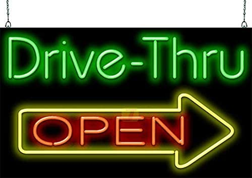 Large Drive-Thru Open Neon Sign - 37