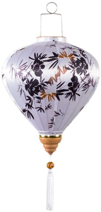 Chinese Style Cloth Lantern Bamboo Diamond Shape Hanging Lantern for Garden Party Wedding Lampshade, 14
