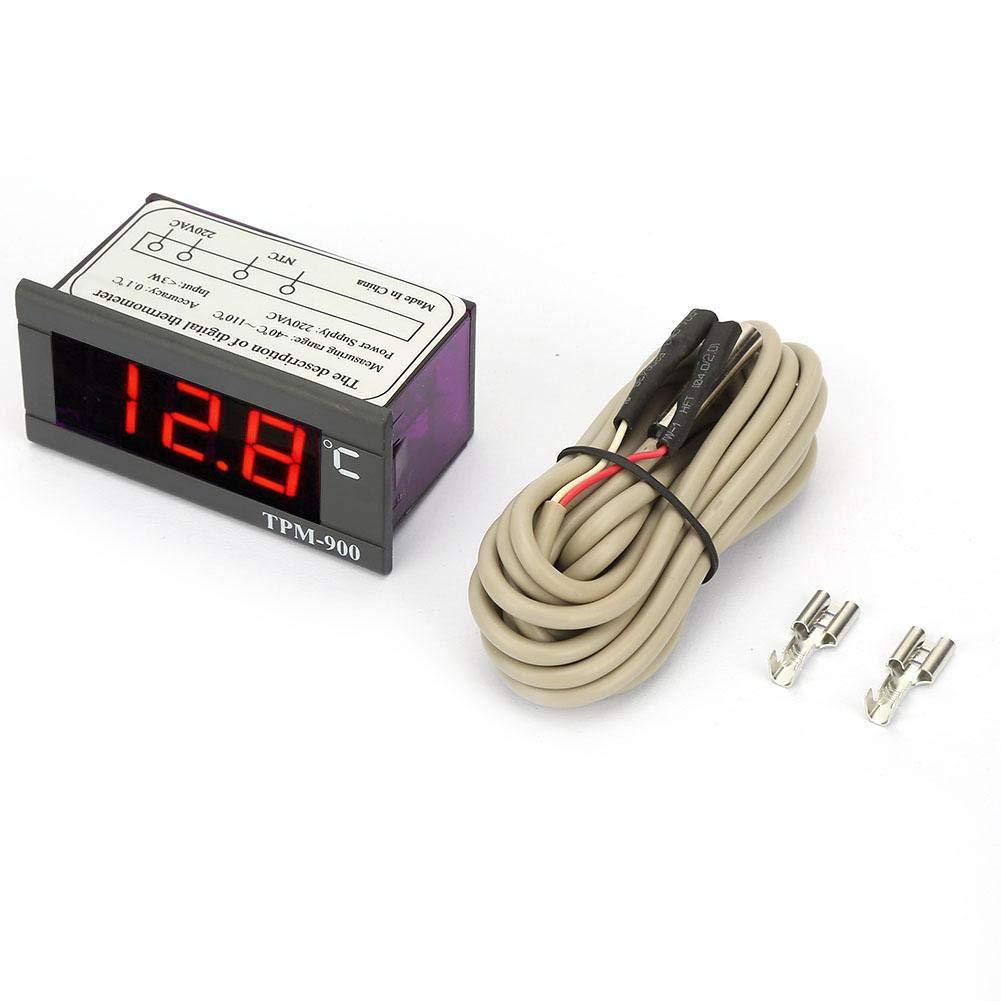 Temperature Controller, TPM-900 220V Digital Temperature Meter LED Thermostat Controller LCD Temperature Controller -40° to +110°