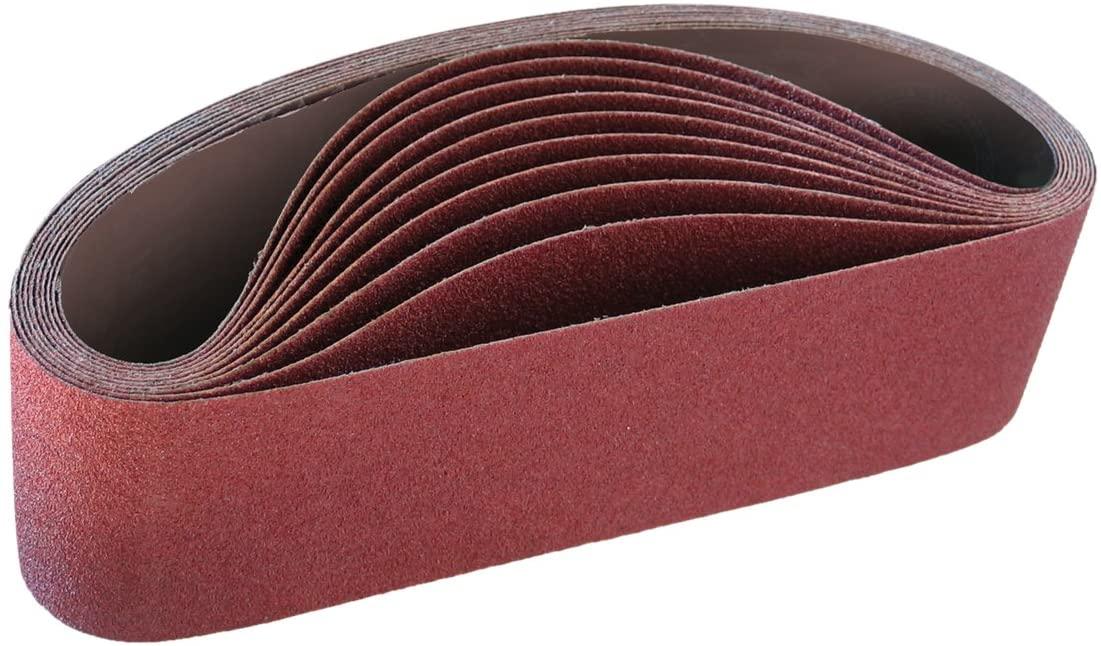 IVY Classic 43072 Flex-Abrasive 3-Inch x 24-Inch 50 Grit Coarse Resin Cloth Aluminum Oxide Sanding Belt, 10-Pack