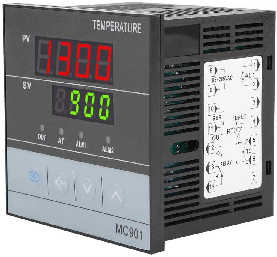 MC901 Digital PID Temperature Controller -199~1300°C 85~265V K Type PT100 Sensor Universal input Relay/SSR Output