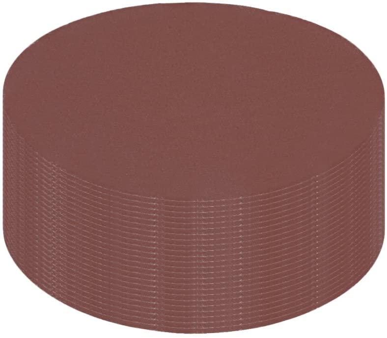uxcell 25Pcs 4 Inch Hook and Loop Sanding Disc 800 Grits Flocking Sandpaper for Random Orbit Sander Brown