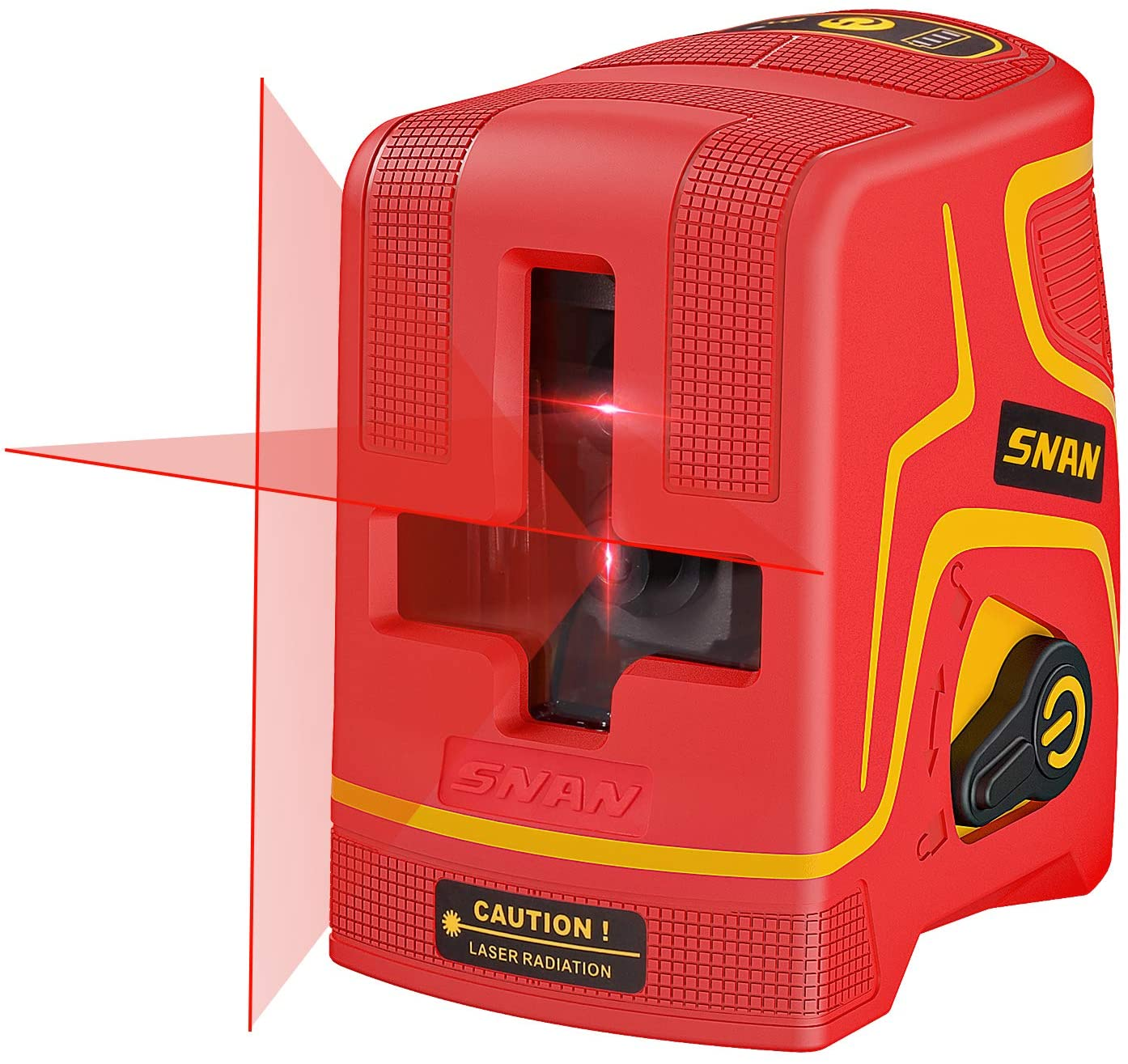 SNAN Laser Level Rechargeable, 98 Feet Line Laser,Three Kinds Of Line, Self-Leveling and Pulse Mode, Magnetic Base,Carrying Pouch,2200mAh Batteries Included,Laser Class: Class 2 <1mW power output
