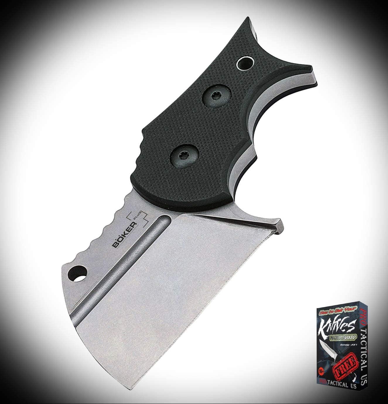 New Plus URD 2.0 Black G10 D2 Steel Full Tang Fixed Blade Neck ProTactical Elite Knife PBO2829RT + Free eBook
